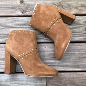 SAM EDELMAN Chandler Suede Studded Ankle Boot 10 M